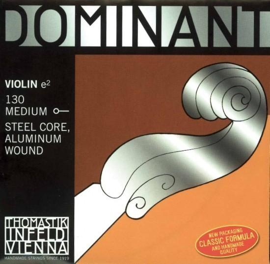 Thomastik 135M Dominant Saitensatz 1/2 Geige/Violine E-Saite Stahl Alu umsponnen mittel