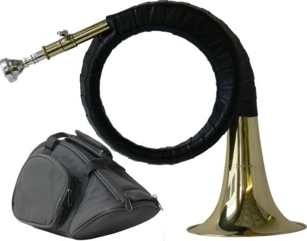 Steinbach Jagdhorn Fürst-Pless-Horn mit Stimmzug im Deluxe Softcase
