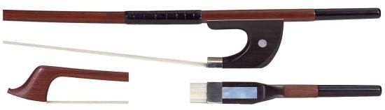 GEWA 1/8 Bassbogen Deutsches Modell, Brasilholz, bessere Qualität, runde Stange