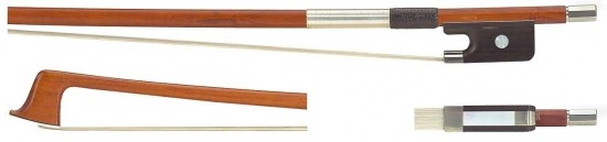 GEWA 4/4 Violabogen / Bratschenbogen aus Fernambukholz, ausgesuchte Qualität, runde Stange