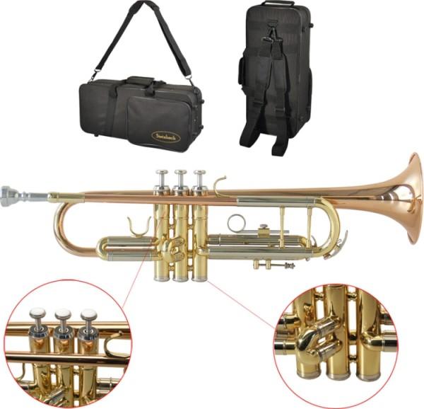 Steinbach Bb- Trompete STRHG-300 Rotmessing mit Monelventilen
