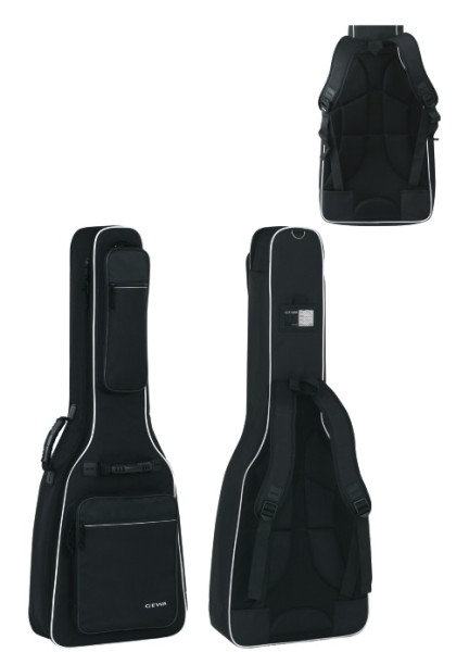 Gewa 4/4 Gitarrentasche in schwarz für E-Bass 25mm Prestige 25 Line