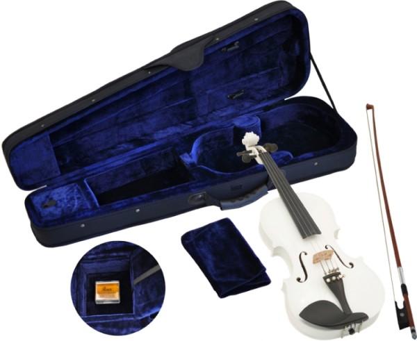 Steinbach 4/4 Geige im SET weiß handgearbeitet