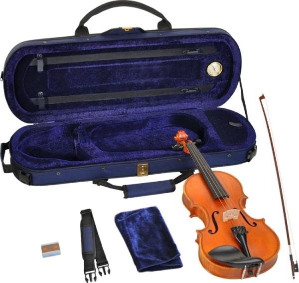 Steinbach 1/8 Geige im SET Ebenholzgarnitur wunderschön geflammt THOMASTIK DOMINANT SAITEN