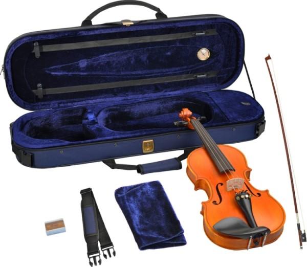 Steinbach 1/2 Geige im SET Ebenholzgarnitur wunderschön geflammt THOMASTIK DOMINANT SAITEN