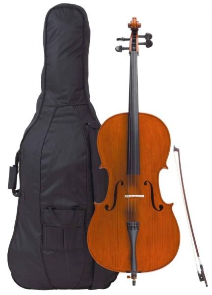 Gewa 1/2 Cello Allegro im Set Ebenholzgarnitur vollmassiv