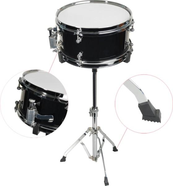 Steinbach Snare Drum 10x5 Zoll für Kinderschlagzeug schwarz inkl. Ständer