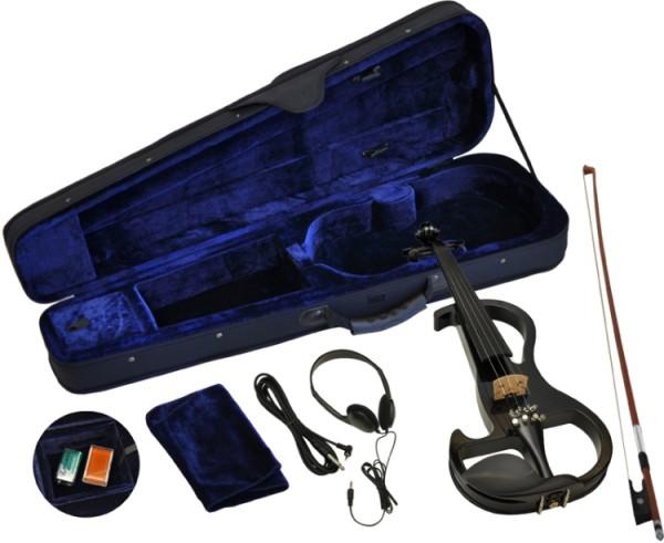 Steinbach E-Geige II in schwarz 4/4 Set im Koffer