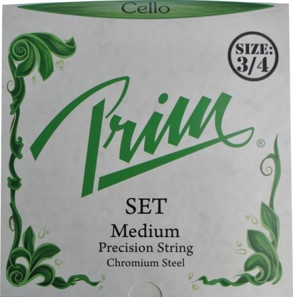 Prim Steel Strings Saitensatz, mit Kugel, medium, für 3/4 Cello