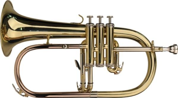 Steinbach Bb-Flügelhorn in Messing inkl. Softetui
