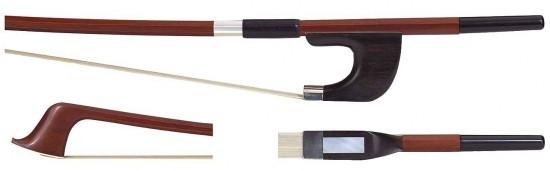 GEWA 1/8 Bassbogen Deutsches Modell, Brasilholz, gute Qualität, kantige Stange