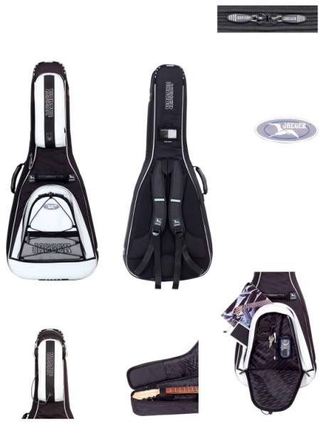 4/4 Jaeger Gitarrentasche in schwarz-anthrazit für Konzertgitarre 30mm Custom