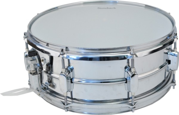 Steinbach Marching Snare Drum aus Metall 14 x 6,5 Zoll