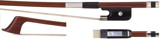 GEWA 3/4 Bassbogen Französisches Modell, Brasilholz, bessere Qualität, runde Stange