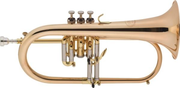 Jupiter Flügelhorn in Bb mit Monel Ventilen Goldmessing