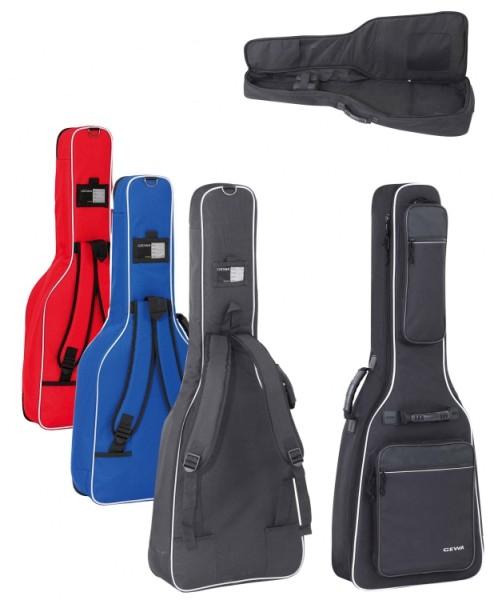 Gewa 4/4 Gitarrentasche in rot für Konzertgitarre 20mm Economy 20 LINE