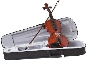 Gewa Set O. M. Moennich 1/16, vollmassive Violingarnitur aus , Ebenholzgarnitur, spielfertig