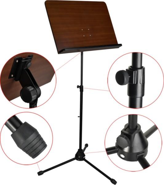 Steinbach Orchesterpult Holzauflage mit Metallgestell in schwarz