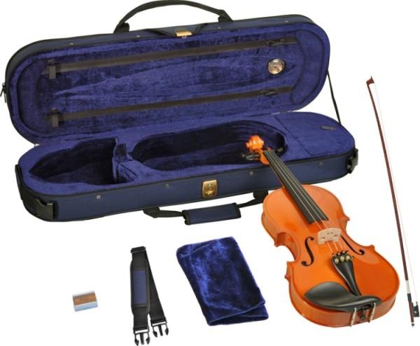 Steinbach 1/2 Geige im SET Ebenholzgarnitur wunderschön geflammt poliert