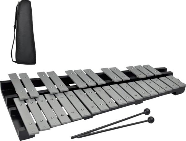 Steinbach Glockenspiel 30 silberne Klangplatten chromatisch faltbar