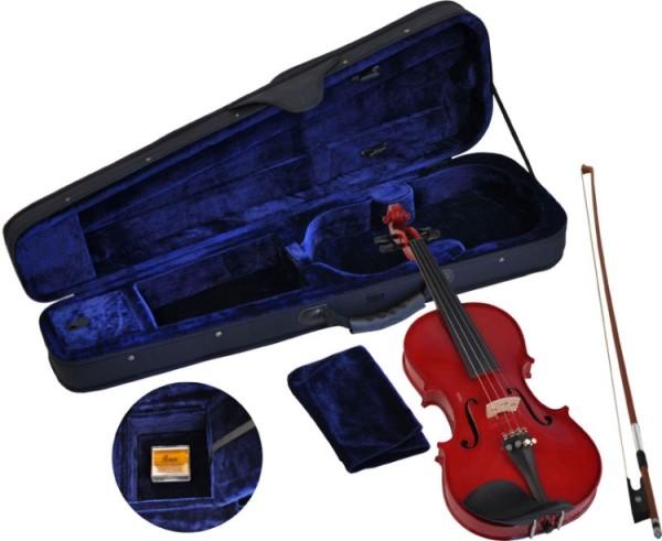 Steinbach 1/4 Geige im SET rot handgearbeitet
