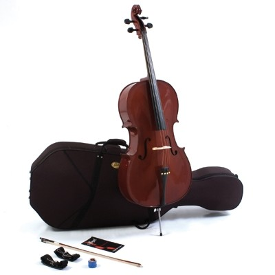 MENZEL 1/4 Cello CL501 im Set, Ebenholzgarnitur, massive Fichtendecke, angeflammter Boden