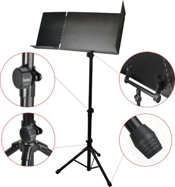 Steinbach Dirigentenpult Metall schwarz extra große Notenablage
