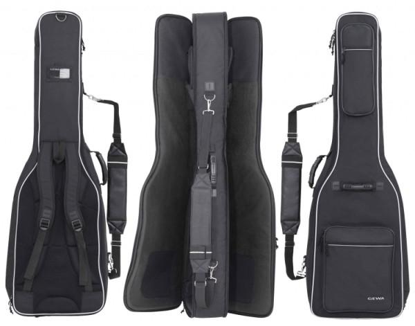 Gewa 4/4 Gitarrentasche in schwarz für 2x E-Gitarre 25mm DOUBLE BAG Prestige 25 Line für 2 Gitarren