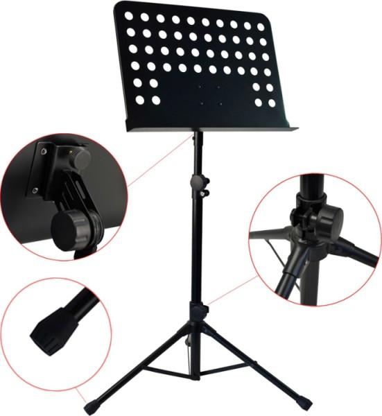 Steinbach SOMS-1 Orchesterpult mit Lochblechauflage Metall schwarz