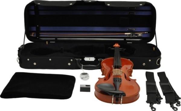 Geigenset Concerto 3/4 SET2 vollmassive Violingarnitur mit geflammten Boden