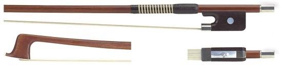 GEWA 1/2 Violabogen / Bratschenbogen aus Brasilholz, gute Qualität, runde Stange