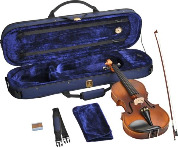 Steinbach 4/4 Geige im SET Ebenholzgarnitur angeflammter Boden