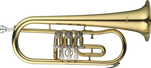 Stagg B-Drehventil-Flügelhorn mit Koffer
