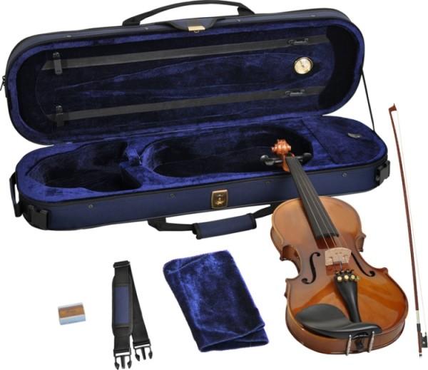 Steinbach 4/4 Geige im SET Ebenholzgarnitur poliert angeflammter Boden