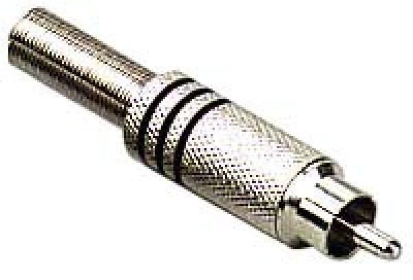 Stagg 0200-M-BLACK Männliche Cinch-Stecker, Metall