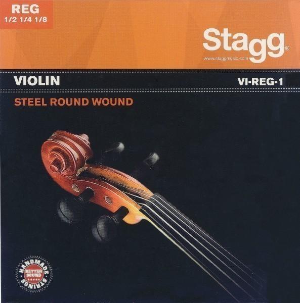 Stagg Saitensatz 1/8 - 1/2 Geige/Violine Stahl rund gewickelt Vollkern dünn