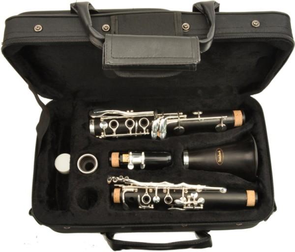 Steinbach Grenadillholz Bb- Klarinette mit 17 Klappen 6 Ringen Böhm Griffweise