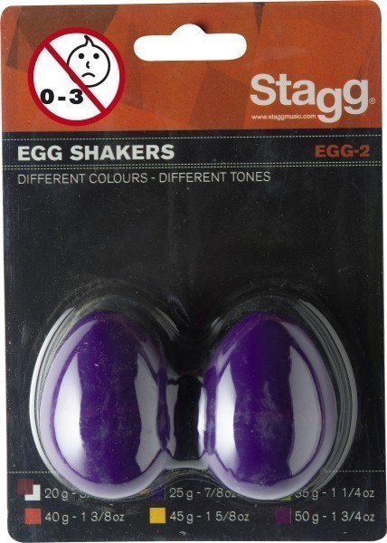 Stagg EGG-2 PP Schütteleier Paar Kunststoff violett