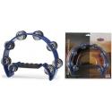 Stagg TAB-2 BL Kunststoff Schellenring mit Cutaway u. 16 Schellen