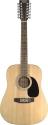Stagg SW205/12 N 12-saitige Akustische Dreadnought Gitarre mit Fichtendecke