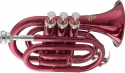 Stagg 77-MT/RD B-Taschentrompete in rot im ABS-Koffer