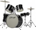 Kinderschlagzeug Stagg TIM J 5/20 BK 5-teiliges 20 Zoll Junior- Schlagzeugset, schwarz