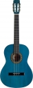 Stagg C542 TB 4/4 Klassik-Gitarre in transparent blau