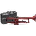 Stagg 77-T/RD rote B-Trompete, im ABS Koffer