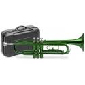 Stagg 77-T/GR grüne B-Trompete im ABS Koffer