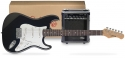 Funtime E-Gitarre + Verstärker Pack, Farbe: schwarz