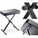 Stagg KEB-A60 Keyboardbank mit X-Form einklappbare Beine