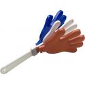 Stagg GGH-FR Kunststoff Go-Go Handklapper in der französischen Nationalfarbe