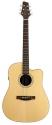 Stagg NA72CBB Elektro-Akustische Dreadnought Gitarre mit massiver A-Klasse Fichtendecke