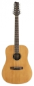 Stagg NA60/12 12-saitige Akustische Dreadnought Gitarre mit massiver Fichtendecke